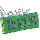 Altoparlanti Stereo Bluetooth Impermeabile - Casse per Doccia - Mini Portatile Soundbar, Speaker durevole, resistente ai Colpi/Sabbia - Musica Senza Fili in Streaming da Qualsiasi Luogo. (Verde) immagine