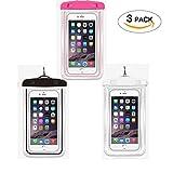 Universel Waterproof Lot de 3bag Dry Bag avec sangle pour Apple iPhone 66S, 6S Plus, se 5S, Samsung S7bord, S6, Remarque 5, HTC LG Sony Nokia Motorola