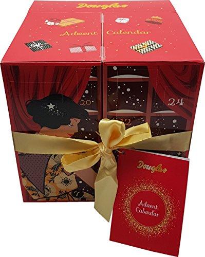 Douglas Adventskalender - Advent Calendar - Damen - Essentials - Beauty - Kosmetik - Würfel - Rot - 24 Produkte (Pflege, MakeUp, Wellness, Accessoires)
