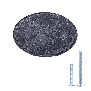 Amazon Basics – Schubladenknopf, Möbelgriff, flach, rund, Durchmesser: 3,66 cm, Geöltes Bronze, 10er-Pack