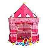 Lemonda Tente de Jeu Maison de Jouer Portable Pliant Cabane Pop-up Château de Princesse Pour Enfant à l'Intérieur ou Extérieur de Maison Dimension: 105 x 135cm (Rose)