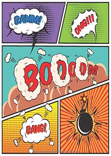 Blanko Comic Buch zum selber zeichnen: 100 Seiten mit leeren Comic Rastern zum selberzeichnen - Comics & Mangas zeichnen - dickes Zeichenpapier