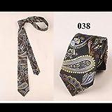 CYCDSD Klassische 6Cm Dünne Krawatte Für Reife Männer Business Slim Krawatte Für Herrenmode Hochwertige Seide Aus Polyester Bräutigam Krawatte-038