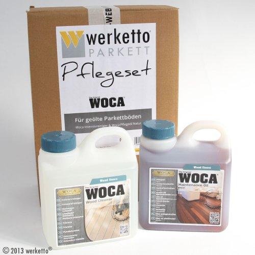 werketto Pflegeset - Woca Intensivreiniger + Woca Pflegeöl Natur