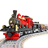AUSINI Dampflok Lego Kompatibel Creator Ytong-Set mit Schienen Zubehör, Reusable Plastic Kiste