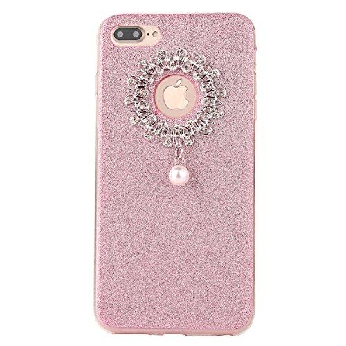 Clear Crystal Rubber Protettivo Case Skin per Apple iPhone 7Plus 5.5(NON iPhone 7 4.7), CLTPY Moda Brillantini Glitter Sparkle Lustro Progettare Protezione Ultra Sottile Leggero Cover per iPhone 7Pl Dentellare 1