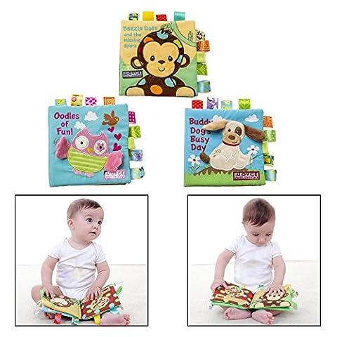 Itian Jouet de jouet en tissu mignon pour bébé pour bébé Trousse d'habillement en tissu durable, paquet de 3