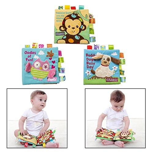 """Itian Animal Baby Spielzeug \""""Entdeckungsbuch\"""",Hochwertiges Kleinkindspielzeug,Baby Buch Anhänger zur Stärkung der Eltern Kind Beziehung"""