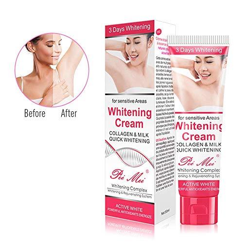 Whitening Cream-Duvina Body Cream für dunkle Haut Natürliche Unterarm-Aufhellung & Aufhellung Deodorant-Creme Achselhöhle Whitening Cremes Unterarm -