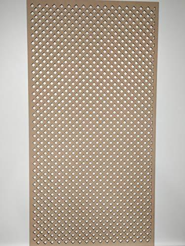 LaserKris Armoire Murale décorative pour radiateur Panneau MDF perforé 4 x 2 D7