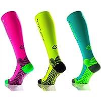 Under Pressur Sox Runattack Chaussettes de compression sportive (compression: 18–21mmHg)–Haute Qualité - Fabriquées en Allemagne.