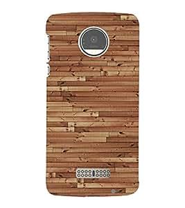 Classic Wooden Design 3D Hard Polycarbonate Designer Back Case Cover for Motorola Moto Z :: Motorola Moto Z Droid