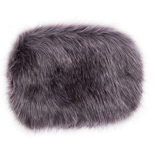 Toocool - Borsa donna borsetta tracolla handbag pelo pelliccia ecologica nuova PO-15 grigio