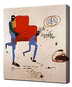 Jean Michel Basquiat - Light Blue Movers - Reproduction d'art - Taille Du Cadre 60cm x 90cm - Image Sur Toile