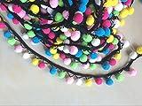 yycraft Multicolor Pom Pom Ball Fransen Trim Band Nähen 4,5Meter (5Meter)