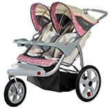 Pacific Cycle Spann Grand Safari Schwenkrad Double Jogger, Tan With Pink