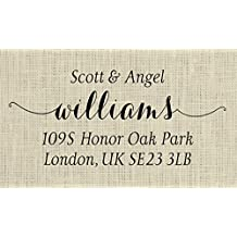 Personalized Wedding Return Address Stamp, Custom Wedding Address Stamp - 8Y