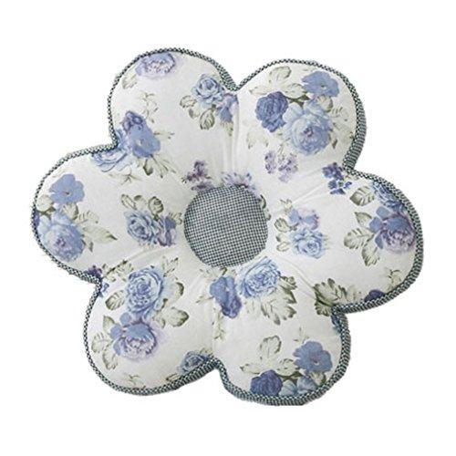 Nunubee Kissen Baumwollmaterial Blumenform Tatami-Stil zierkissen mit füllung apelt kissenhülle Vintage deko Dekoration deko Kissen deko Wohnzimmer Autodekoration Sofa Cover, Blaue Rose 40x40cm