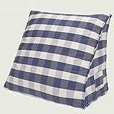 SUN ll-Rückenlehne Dreieck Bedside Rückenlehne Büro Sitz Sitz Auto Sofa Kissen Große Kissen Baumwolle Geometrische Gitter (Farbe : G, größe : 60*50*25cm)