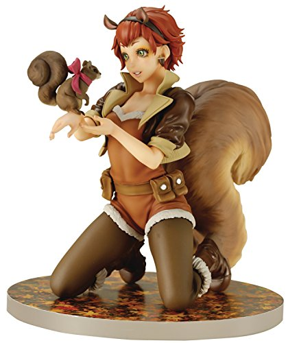 Marvel Comics MK216Eichhörnchen Girl Bishoujo Statue (Der Mädchen Auf Harley)