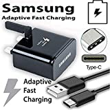 Samsung Product, Protect Your Device, Official Samsung Fast Adaptive Mains Wall Charger Plug And Fast Charging USB Data Sync Cable For Samsung Galaxy S10, S10 Plus, S10E Lite S9, S9+ Plus, S8, S8 Plus