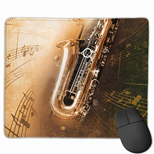 pad-Matte, Smooth Mouse Pad Brass Sax Mobile Gaming Mousepad Work Mouse Pad Office Pad ()
