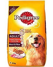 Pedigree Adult Dry Dog Food, Meat & Rice, 10kg Pack