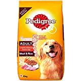 Pedigree Adult Dry Dog Food, Meat & Rice, 10kg Pack