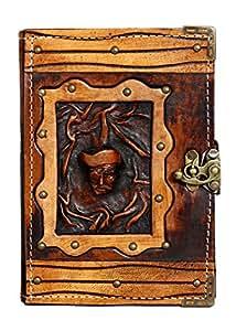 Capitaine Pirate Sur Un Livret De Luxe Journal Intime / Cadenas / Cuir / Cahier / Le Style Rétro / Le Millésime / Agenda / Carnet / Calepin / Bloc-Notes / Journal En Cuir Fait Main / Journaux / Papier Ordinaire / Papier Rechargeable