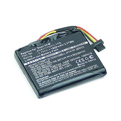 Batterie pour TomTom Start 60 M Europe Traffic (1020mAh) VFA, AHA11111003