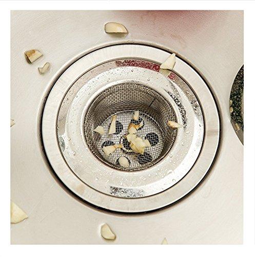 Distinct® Edelstahl-Spüle-Sieb-Küche-Drainer-Netz-Zusatz-Badezimmer-Abwasserkanal-Filter (9cm)