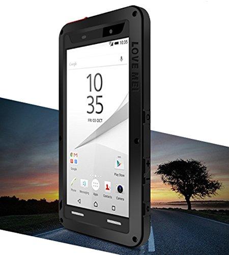 Wasserdicht Verizon-handys (Love Mei Schutzhülle für Sony Xperia Z5 Compact, 11,7 cm (4,6 Zoll) (Schwarz))