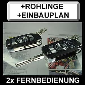 zv88r21Clé plip télécommande radio avec clignotant Confirmation + rohlinge + Plan à encastrer spécifique