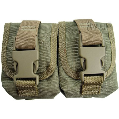 Maxpedition Doble Frag Grenade Bolsa Khaki