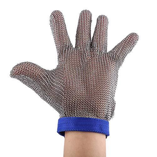 Akozon Guantes Resistentes a Cortes, Guantes de Malla de Metal de Acero Inoxidable SS304 de Alta Protección de Nivel 5 para Cocina para exteriores y trabajo de jardinería, guantes de cocina para corta