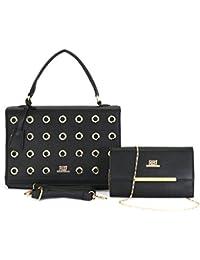 Roberto Ballmore Womens Leatherette Hand Bag Black - B076F6KRW2