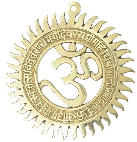 Hinduismus Symbol Wand Aufkleber OM Religiöse Home Décor Messing 20,3cm, 600Gramm