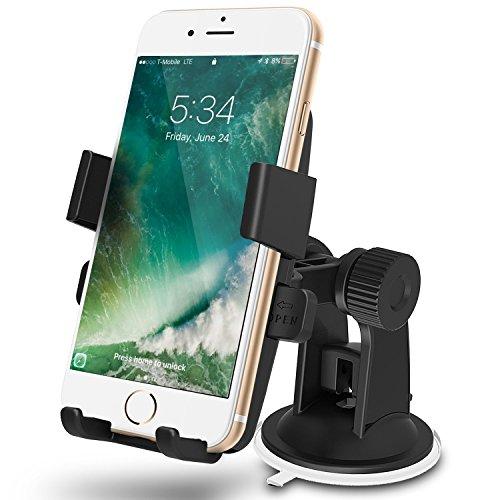 GreatShield Quick Grip (One TOUCH) TRIGGER Windschutzscheibe/Armaturenbrett, Universal Kfz-Halterung für Mobiltelefone iPhone 7/7 Plus, Galaxy S8/S8 Plus, Moto G5/G5 Plus, LG G6, Google Pixel/XL (Moto E Greatshield)