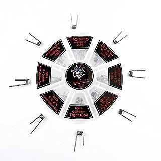 Asenart ® 8 in 1 Prebuilt Coils Elektronische Coil Wire Heizung Draht in Riesenrad Box (0,36 Ohm 0,45 Ohm 0,5 Ohm 0,85 Ohm) 48 Stück Pre-Built Coils