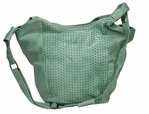 Greenburry Stainwashed Sac bandoulière cuir 39 cm green
