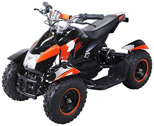 Actionbikes Motors Mini Kinder Elektro Quad ATV Cobra 800 Watt 36 V Pocket Quad - Original Saftey Touch - Kinder E Bike (Schwarz/Orange)