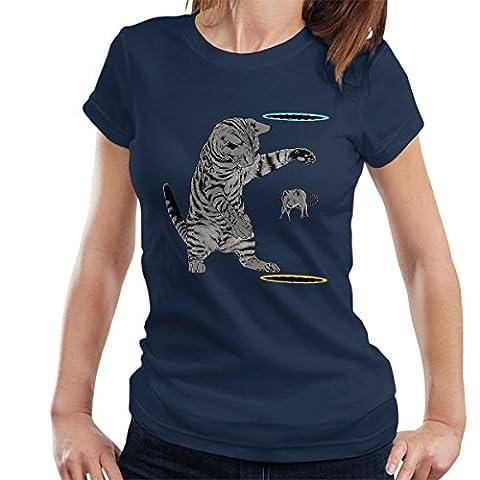 Portal Cat Get That Mouse Women's T-Shirt