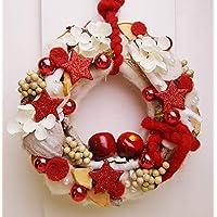 Türkranz Weihnachten rot weiß