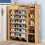 XQY Haushalt Holzschuh Rack, Hohe Qualität Schuhschrank, Multi-Layer einfache Haushalt multifunktionale Schuhschrank, einfache Haustür Schuhregal,1