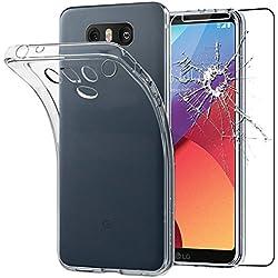ebestStar - Coque LG G6 H870, G6 Dual Etui Housse Silicone Gel Anti-Choc Ultra Fine Invisible, Transparent + Film Verre Trempé [Appareil: 148.9 x 71.9 x 7.9mm, 5.7'']
