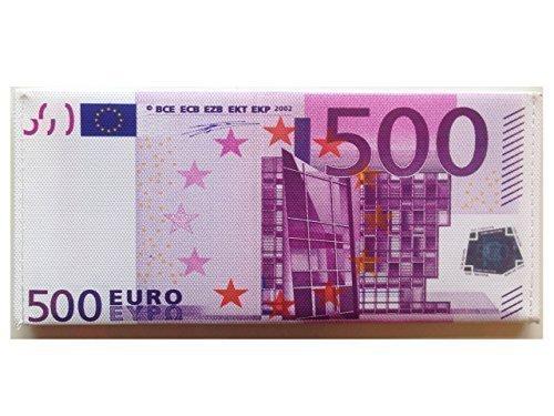 Portafogli Cucito a Mano Con Disegno Falsa Banconota Valute Sterlina Britannica Dollaro Euro - 500 EURO