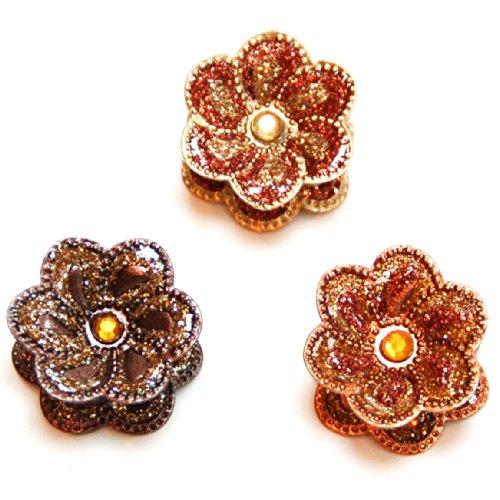 rougecaramel - Accessoires cheveux - Mini pinces cheveux paillettes lot de 3pcs - marron