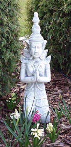 Buddha kniend (S101155) Gartenfigur Skulptur Statue Steinguss Betonguss 75 cm