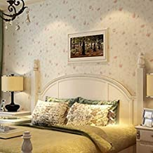 SDKKY No tejidas sencillo pastoral salón dormitorio de pared flor rosa romántico papel tapiz , elegante , polvo 53*1000 papel pintado