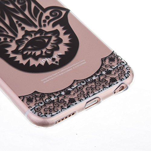 "iPhone 6S Coque,iPhone 6 Bling Case,iPhone 6S Cover - Felfy Ultra Mince Slim Gel TPU Silicone élégant Ultra Thin Bling Plating Case Coque Bumper Cas Housse pour Apple iPhone 6/6S 4.7"" (Losange Violet) Palm Fleur"